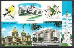 Iowa, Des Moines, Capitol, State Flower & Bird, Unused - Des Moines