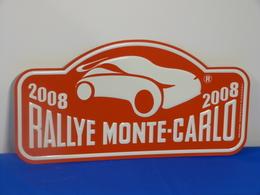 "Plaque De Rallye ""MONTE CARLO"" 2008 Rally Plate - Rallye (Rally) Plates"