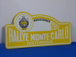 """Plaque De Rallye """"MONTE CARLO HISTORIQUE"""" 2011 - Rallye (Rally) Plates"""