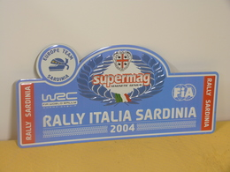 "Plaque Rallye ""SARDAIGNE ITALIE"" 2004 Rally Plate - Rallye (Rally) Plates"