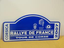 """Plaque De Rallye """"TOUR DE CORSE 2007"""" Rally Plate - Rallye (Rally) Plates"""
