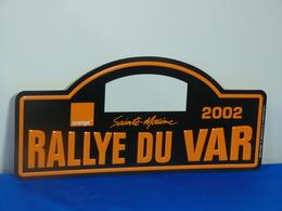 """Plaque Rallye """"VAR 2002"""" Rally Plate - Rallye (Rally) Plates"""