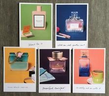 5 Cartes SEPHORA (USA) - Cartes Parfumées