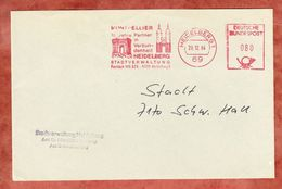 Brief, Absenderfreistempel, Montpellier Partner Heidelberg, 80 Pfg, 1984 (46227) - Marcofilia - EMA ( Maquina De Huellas A Franquear)