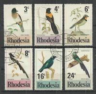 RHODESIA 1977 - NATIVE BIRDS - CPL. SET - OBLITERE USED GESTEMPELT USADO - Oiseaux