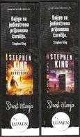 Croatia 2017 / Bookmarks / Bookmarker / Stephen King - Dark Tower And Gunslinger, The Drawing Of The Three, Dark Tower - Marcapáginas
