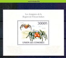 Nep017 FAUNA SPINNEN GELEEDPOTIGEN 'INSECTEN INSECTS' SPIDERS SPINNENTIERE COMORES 2009 PF/MNH - Spinnen