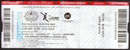 HANDBALL / MEN'S EHF EURO CROATIA 2018 / Ticket / Slovenia-Germany, Montenegro-Macedonia / 15.01.2018. - Toegangskaarten