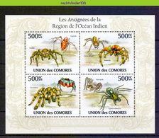 Nep018b FAUNA SPINNEN GELEEDPOTIGEN 'INSECTEN INSECTS' SPIDERS SPINNENTIERE COMORES 2009 PF/MNH - Spinnen
