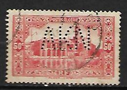 ALGERIE    -     1936 .  Y&T N° 112 Oblitéré.   Perforé  /  Perfin. - Perfin