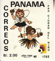 1986 Panama Children's Village 2 Souvenir Sheets Perf & Imperf (non Dentale) Complete Set MNH - Panama