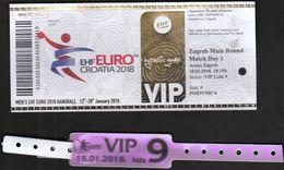 HANDBALL / MEN'S EHF EURO CROATIA 2018 / Ticket / Main Round / Serbia-Norway, Croatia-Belarus / 18.01.2018. Zagreb - Eintrittskarten