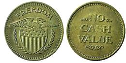 00418 GETTONE JETON TOKEN GAMING  MACHINE FREEDOM EAGLE NO CASH VALUE - USA