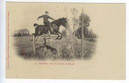CPA 49 Militaires Régiment Saumur Saut D'un Brook à La Ronde N° 42 - Regimenten