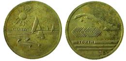 03853  GETTONE JETON TOKEN ADVERTISING CUBA - Tokens & Medals