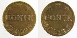 00047  GETTONE JETON TOKEN SWEDEN GAMING SLOT MACHINE BONIK - Tokens & Medals