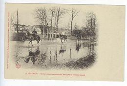 CPA 49 Militaires Régiment Saumur Entrainement Revenant Du Breil Par Le Chemin Inondé N° 53 - Reggimenti