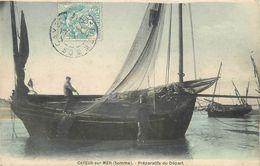 80 CAYEUX SUR MER  Préparatifs Du Départ Bateau De Pêche   2scans - Cayeux Sur Mer