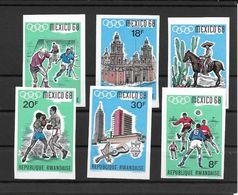 Rwanda Série Complète Non Dentelé/imperf/ND JO 68 ** - Sommer 1968: Mexico
