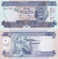 Solomon Islands - 5 Dollars Last Type С/8 UNC Lemberg-Zp - Salomons