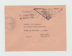 Cachet MARINE NATIONALE Centre Ecole ROCHEFORT - Cachet Rochefort AERO  Marine 1971 - LSC - Marcophilie (Lettres)