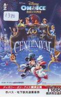 Carte Prépayée Japon * DISNEY (1370) CENTENIVAL * SKATING * Mickey & Minnie * JAPAN PREPAID CARD - Disney