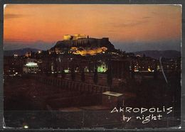 Greece, Athens, Akroplis At Night, Mailed - Greece