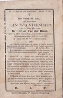 Francisca STEENHAUT, Echtgenote Van Benedictus VAN DER BIEST, ° Idegem 1797 - † Schendelbeke 1877 ! - Imágenes Religiosas