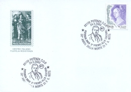 Italia 2003 Annullo Speciale Su Cartoncino Potenza 50° Anniversario Morte Uomo Politico Francesco Saverio Nitti - Persönlichkeiten