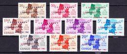 Republiek Congo 1961 Nr 420/29 **, Zeer Mooi Lot K655 - Republic Of Congo (1960-64)