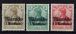 Marokko 1911/1919 // Mi. 46/48 * - Deutsche Post In Marokko