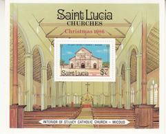 1986 St. Lucia Catholic Church Eglise Complete Souvenir Sheet  MNH - St.Lucia (1979-...)