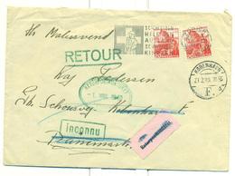 Schweitz. God Letter Send To Denmark 1949 And Return. See Backside - Switzerland