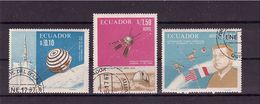 ECUADOR 1967 French-American Space Cooperation  Cpl. Set Of  3  Yvert Cat.  N° 762 + Air 464/65  Very Fine Used - Spazio
