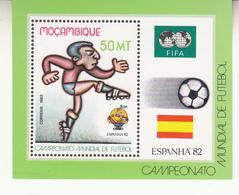 1982 Mozambique World Cup Football  Complete Souvenir Sheet  MNH - Mozambique