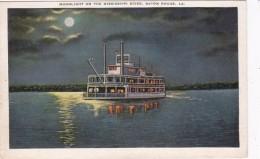 Louisiana Baton Rouge Moonlight On The Mississippi River - Baton Rouge