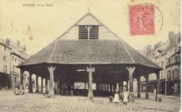 08 Rethel La Halle Animée Avant La Grande Guerre - Rethel
