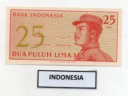 Indonesia - 1964 - Banconota Da 25 Sen - Nuova - (FDC8072) - Indonesia