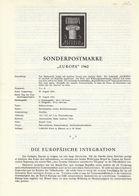 Austria 1960 / Prospectus, Leaflet, Brochure / Europa CEPT - Europa-CEPT