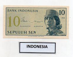 Indonesia - 1964 - Banconota Da 10 Sen - Nuova - (FDC8073) - Indonesia