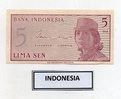 Indonesia - 1964 - Banconota Da 5 Sen - Nuova - (FDC8074) - Indonesia