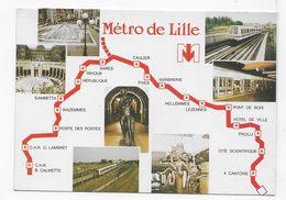 LILLE - METRO DE LILLE - MULTIVUES - CPM GF NON  VOYAGEE - Lille