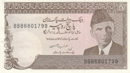PAKISTAN 5 RUPEES -UNC - Pakistan