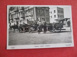 RPPC Donkey Carts Karachi -- Has South Africa  Has Stamp & Cancel    -ref 2836 - Pakistan