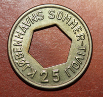 "Jeton-monnaie 25 öre Du Parc D'attraction ""les Jardins De Tivoli à Copenhague / Kjobnhavns Sommer Tivoli"" Amusement Park - Monetary /of Necessity"
