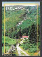 Ireland, Cottage And Waterfall, Unused - Ireland