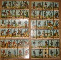 Rare Loto Ancien / C1910 - Loto Des Militaires Européens - Chromolitho - 6 Cartons De Jeu + 23 'pions' - 6 Scans - Jouets Anciens