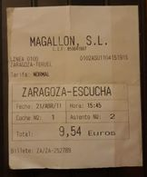 BUS - AUTOBÚS. VIAJE ZARAGOZA - ESCUCHA. - Bus