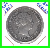 MONEDA 20 REALES 1857  DURO SEVILLANO - España