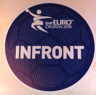 HANDBALL / MEN'S EHF EURO CROATIA 2018 / Main Official Sticker / INFRONT - Handball